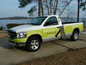 Look for our Mosquito Squad truck in your neighborhood.